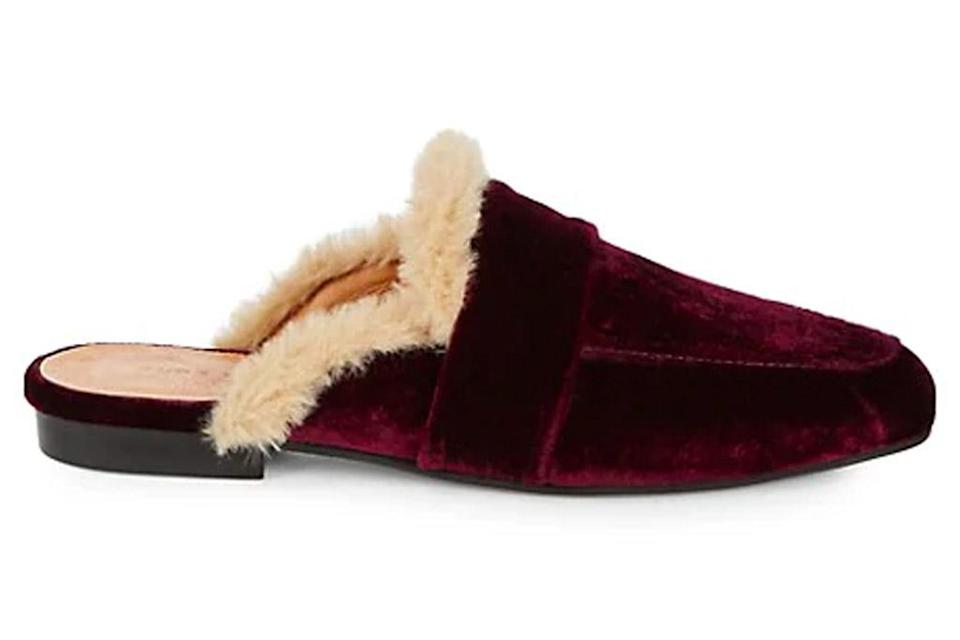 loafers, furry, saks