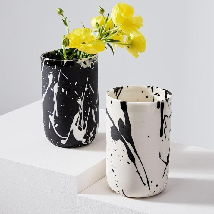 <p>Breathe new art into their kitchen with this <span>BTW Ceramics Torrent Vase</span> ($44).</p>