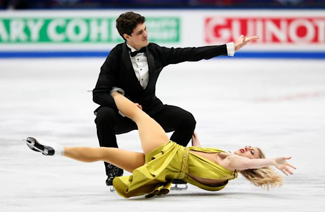 Figure Skating - World Figure Skating Championships - The Mediolanum Forum, Milan, Italy - March 24, 2018 Canada's Piper Gilles and Paul Poirer during the Ice Dance Free Dance REUTERS/Alessandro Garofalo