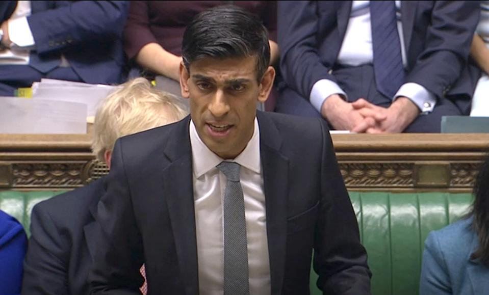 Chancellor Rishi Sunak delivers his Budget in the House of Commons, London.