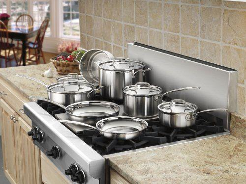 """<p><strong>Cuisinart</strong></p><p>amazon.com</p><p><strong>$254.99</strong></p><p><a href=""""https://www.amazon.com/dp/B009JXPS6U?tag=syn-yahoo-20&ascsubtag=%5Bartid%7C10057.g.36715122%5Bsrc%7Cyahoo-us"""" rel=""""nofollow noopener"""" target=""""_blank"""" data-ylk=""""slk:BUY NOW"""" class=""""link rapid-noclick-resp"""">BUY NOW</a></p><p>Every cook's dream: This set includes everything you need to whip up your favorite recipes, and in chic stainless steel, to boot. </p>"""