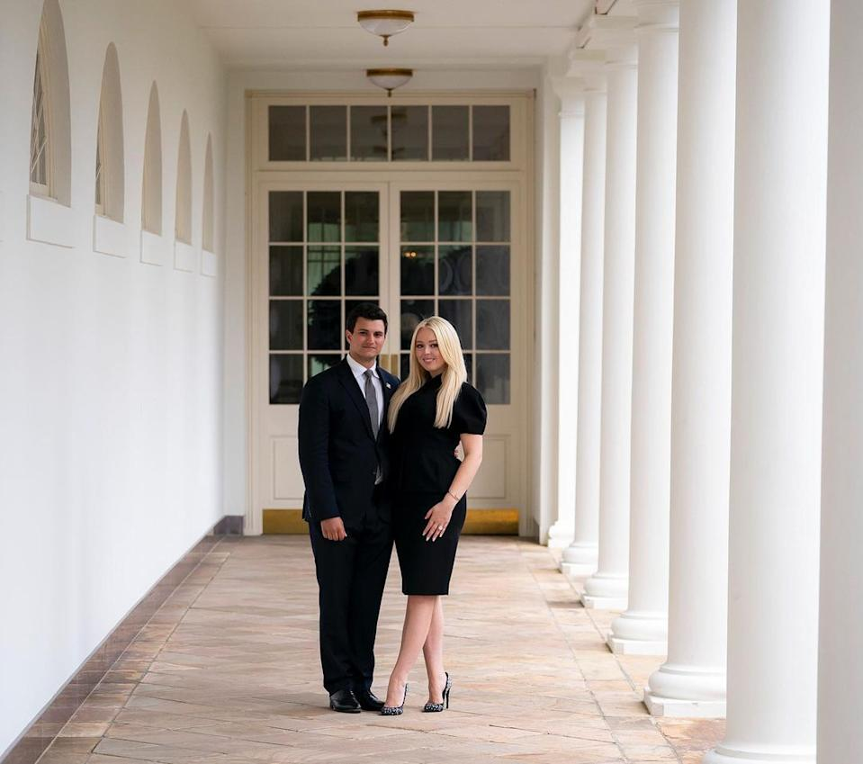 Tiffany Trump announced her engagement to Michael Boulos on her father Donald Trump's final day in office. Photo: Instagram/tiffanytrump.