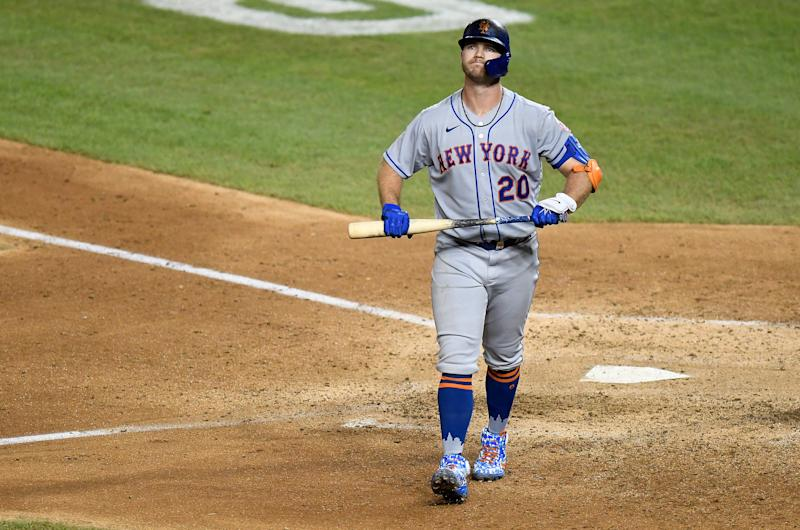 Pete Alonso and the Mets have had a rough start. (Photo by Greg Fiume/Getty Images)