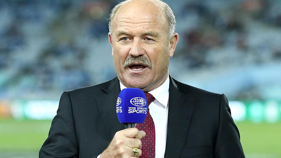 Wally Lewis, pictured here before game II of the 2017 State Of Origin series.