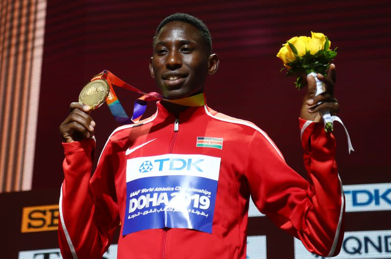 Kenya's Kipruto tests positive for coronavirus, out of Monaco meet