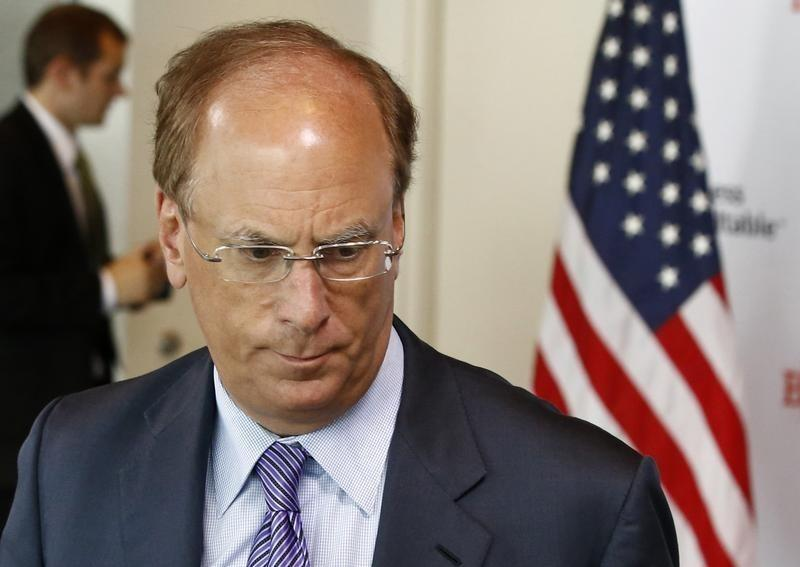 File photo of Blackrock CEO Larry Fink at a business roundtable meeting of company leaders in Washington