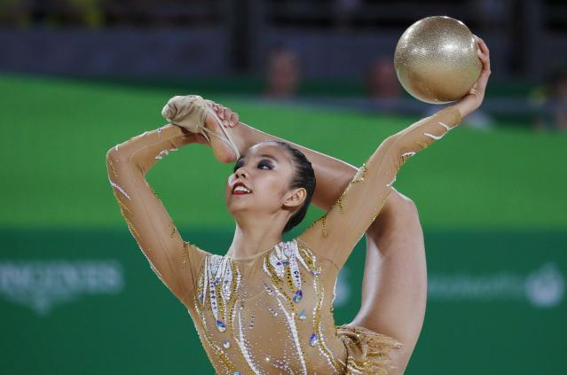 Rhythmic Gymnastics - Gold Coast 2018 Commonwealth Games - Individual Ball Final - Coomera Indoor Sports Centre - Gold Coast, Australia - April 13, 2018. Koi Sie Yan of Malaysia. REUTERS/David Gray