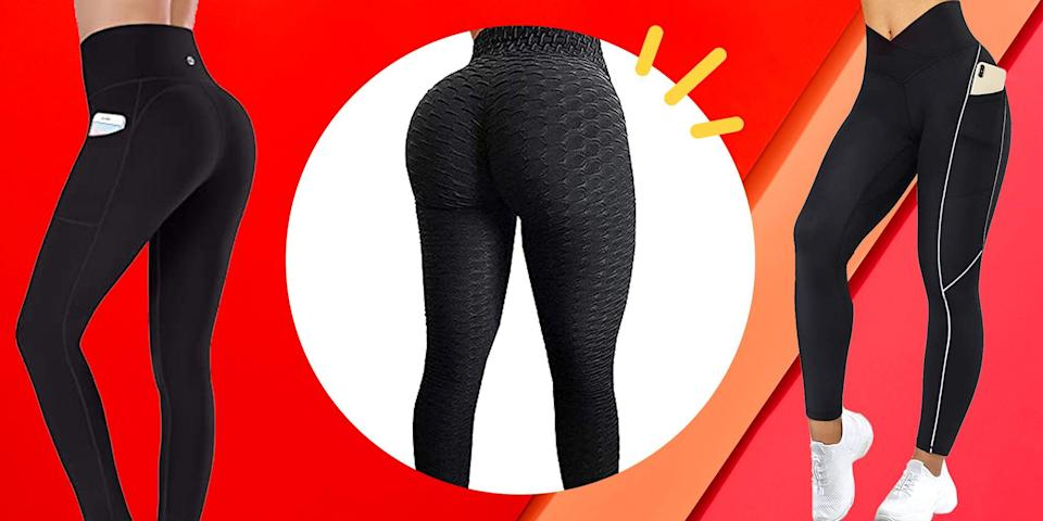 <p>The search for the perfect pair of leggings is endless. When you're in pursuit of something that's just as comfortable as it is stylish, there are many factors that come in to play for all of our unique body types, budgets, fabric preferences, and even the lifestyles we lead. </p><p>For a bootcamp class in the park, nothing is better than a high-rise, super soft, seamless pair of breathable, sweat-wicking leggings. But, if you're a fashion lover looking for something to style with your favorite heels and a blazer, a sexy pair of leather leggings is ideal. The best part is that there are options out there, and sometimes there are honestly way too many to wade through, especially on Amazon. (Gotta love that overnight delivery.) </p><p>So you don't have to swim through the abyss of never-ending options (that can all start to look identical after a few pages of scrolling), below is a list of the top-rated, bestselling leggings on Amazon that come with thousands of five-star reviews and glowing recommendations. </p><p>Whether you're a leggings minimalist who likes to have one or two versatile pairs on-hand at all times, or your anti-pants stance has your wardrobe looking a bit empty, below are the best, most top-rated leggings on Amazon, according to customer reviews: </p>
