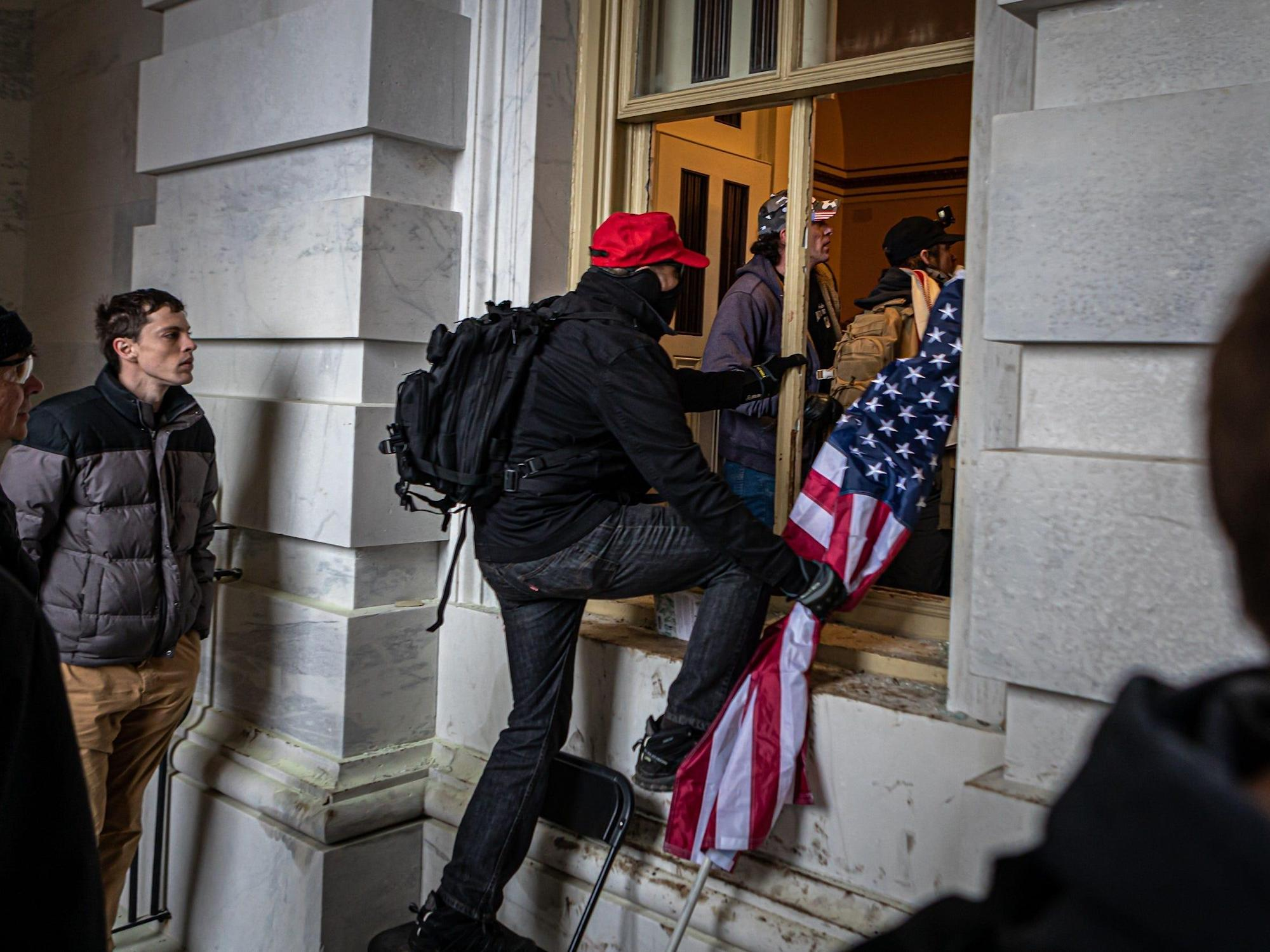 An ex-girlfriend tipped off the FBI about an alleged US Capitol rioter after he called her a 'moron'