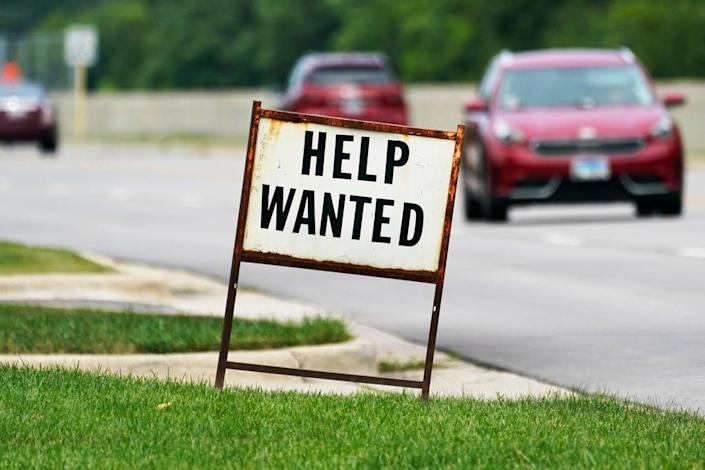 Off The Charts-Employment Market Gulf (Copyright 2021 The Associated Press. All rights reserved.)