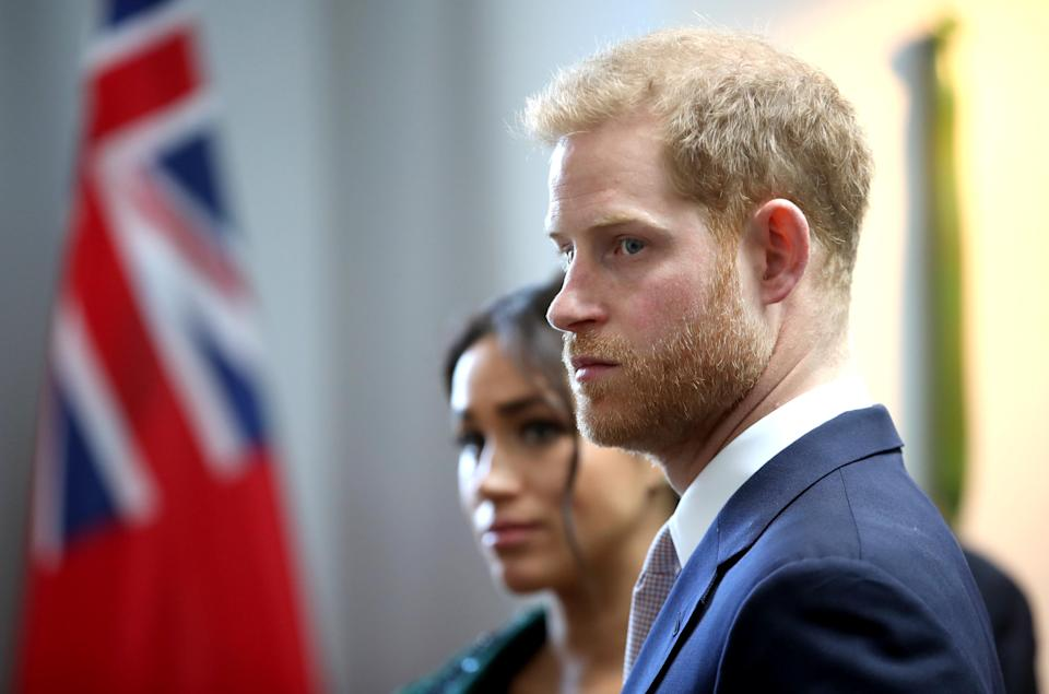 The Duke and Duchess of Sussex at Canada House last week [Photo: Getty]