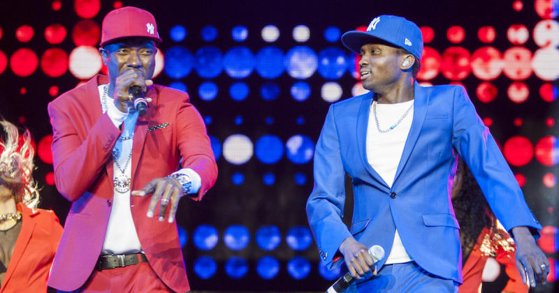 Reggie N Bollie performing on-stage at the Hydro Arena, Glasgow for The X Factor Life Tour (Copyright: DMC/Splash News)