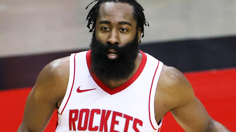 James Harden has been traded to the Brooklyn Nets, with the Houston Rockets receiving a total of eight draft picks among other assets in return. (Photo by Carmen Mandato/Getty Images)