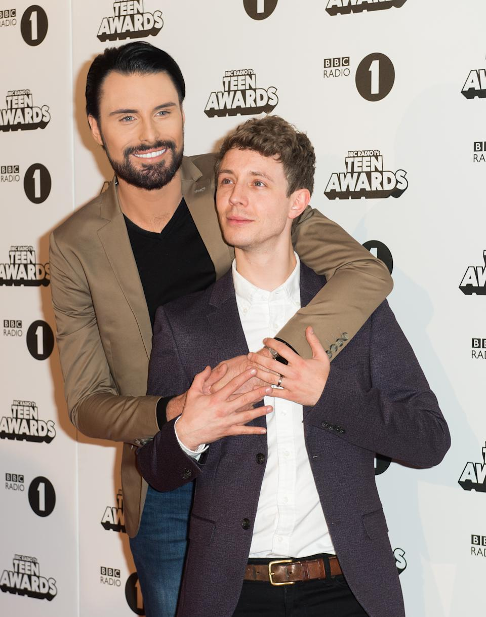 LONDON, ENGLAND - OCTOBER 23: Rylan Clark Neal (L) and Matt Edmondson attend BBC Radio 1's Teen Awards at SSE Arena Wembley on October 23, 2016 in London, England. (Photo by Samir Hussein/Getty Images)