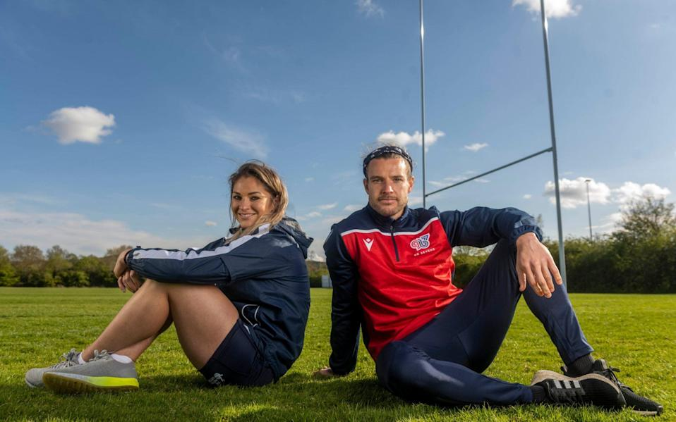 GB Sevens players Tom Mitchell and Amy Wilson Hardy - PAUL GROVER