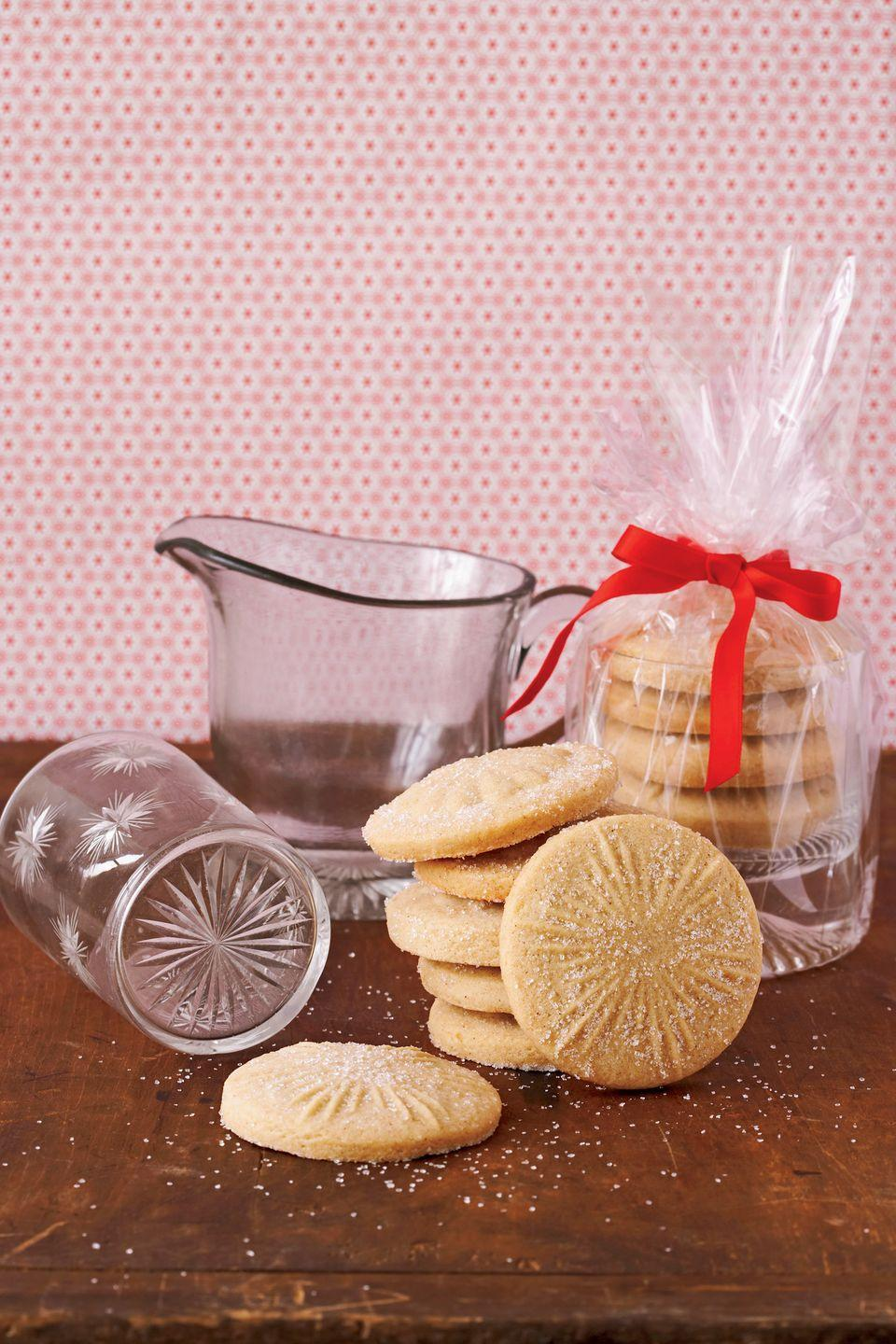 "<p>Simplify your holiday baking this season: With just one dough recipe, you can create dozens of distinctive cookies. During the holidays, an edible gift is always appreciated—and never returned! </p><p><strong><a href=""https://www.countryliving.com/food-drinks/recipes/a2022/sugar-cookie-dough-clv1207/"" rel=""nofollow noopener"" target=""_blank"" data-ylk=""slk:Get the recipe"" class=""link rapid-noclick-resp"">Get the recipe</a>.</strong></p><p><strong><a class=""link rapid-noclick-resp"" href=""https://www.amazon.com/KitchenBasix-Adjustable-Rolling-Multicolored-Removable/dp/B0728D11SY/?tag=syn-yahoo-20&ascsubtag=%5Bartid%7C10050.g.2777%5Bsrc%7Cyahoo-us"" rel=""nofollow noopener"" target=""_blank"" data-ylk=""slk:SHOP ROLLING PINS"">SHOP ROLLING PINS</a></strong></p>"