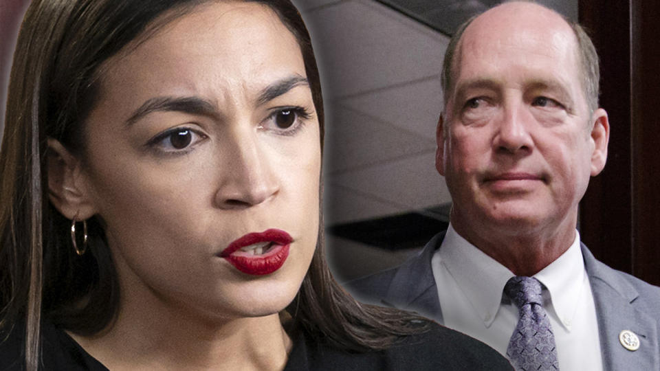 Rep. Alexandria Ocasio-Cotez, D- NY and Rep. Ted Yoho, R-Fla. (Photo illustration: Yahoo News, photos: AP,  J. Scott Applewhite/AP)