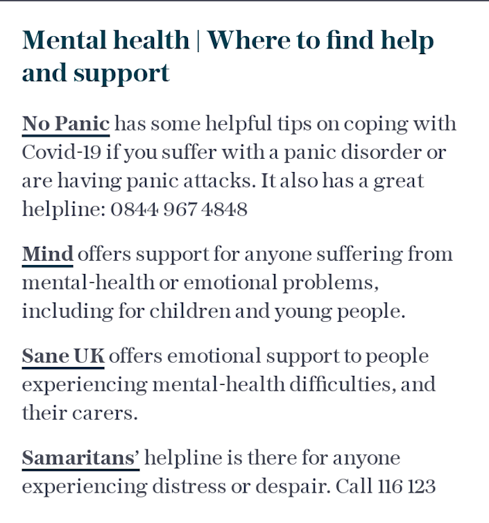 Mental health | Where to find help and support