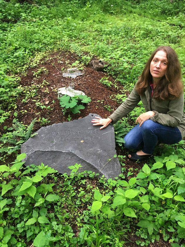 Green burials are on the rise. Town of Rhinebeck Cemetery committee chairwoman Suzanne Kelly points out a burial mound in the cemetery's natural burial ground in Rhinebeck, New York, located 80 miles north of New York City.