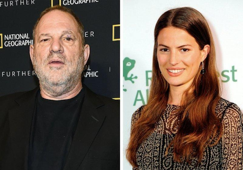 Harvey Weinstein, left, and model Cameron Russell, right.