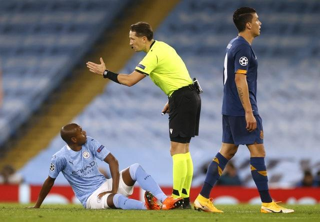 Fernandinho is now expected to be sidelined for less than a month (Phil Noble/PA).