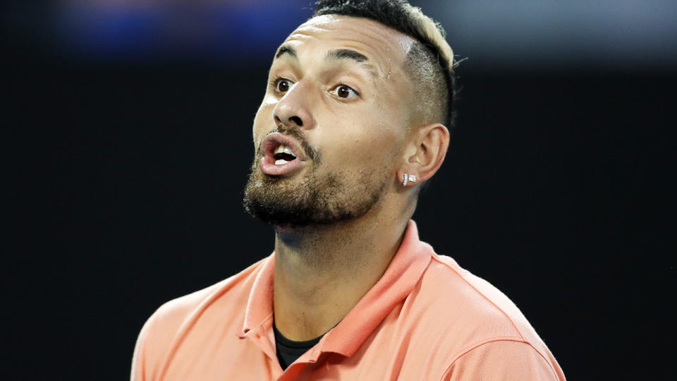 Nick Kyrgios, pictured here at the 2020 Australian Open in January.