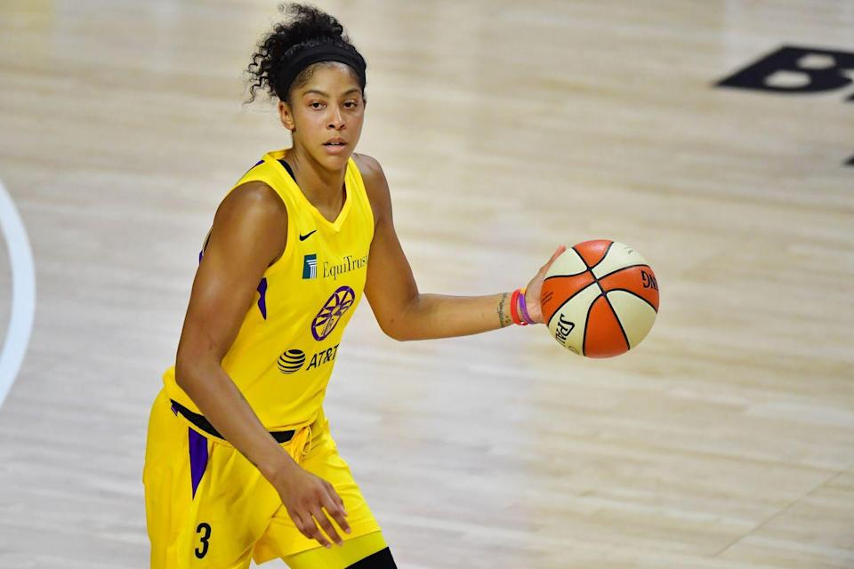"""<p><strong>Sport: </strong>Basketball</p><p>Since becoming the first overall draft pick in 2008, Parker's various accolades include being a two-time WNBA MVP, a two-time gold medalist, and WNBA champion. After spending 13 seasons with the LA Sparks, she's now with the Chicago Sky. Most recently <a href=""""https://www.cnn.com/2021/07/14/us/candace-parker-nba-2k22-trnd/index.html"""" rel=""""nofollow noopener"""" target=""""_blank"""" data-ylk=""""slk:she became the first woman"""" class=""""link rapid-noclick-resp"""">she became the first woman</a> on the cover of the bestselling basketball video game, NBA 2K.<br></p>"""