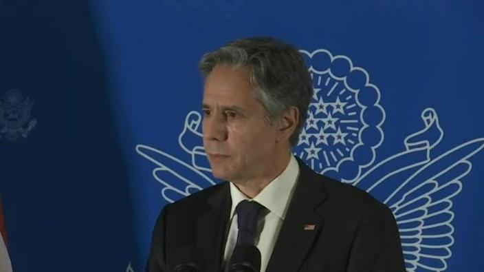 Blinken says two-state solution only way forward in Mideast