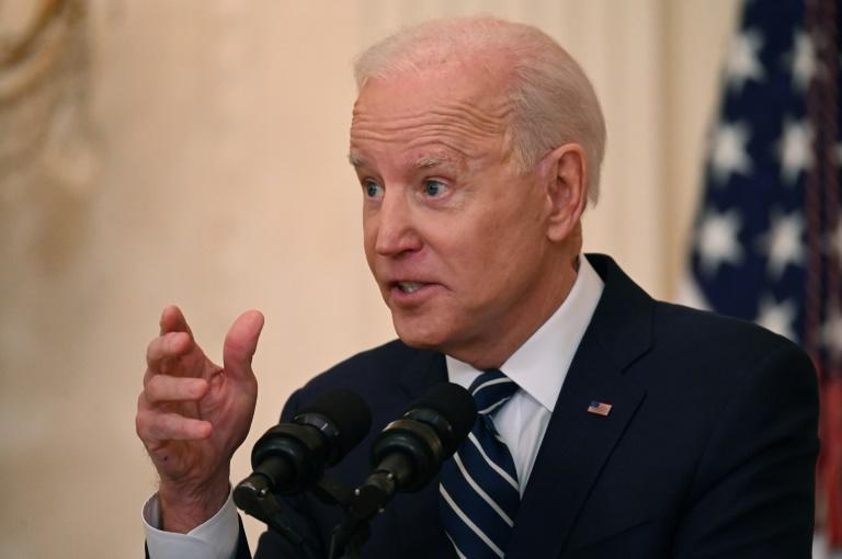 US President Joe Biden raised his goal for shots in arms during his first 100 days in office from 100 to 200 million