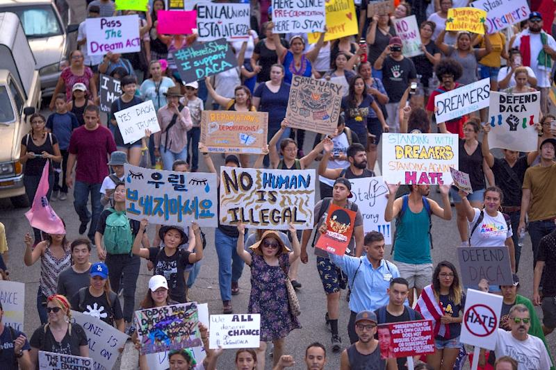 Last month, demonstrators took to the streets of Los Angeles to call for protections for undocumented immigrants after Attorney General Jeff Sessions announced the Deferred Action for Childhood Arrivals (DACA) program would be repealed