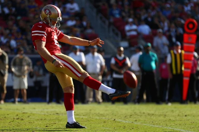 San Francisco 49ers punter Mitch Wishnowsky could become the first Australian to play in and win a Super Bowl this weekend (AFP Photo/Joe Scarnici)