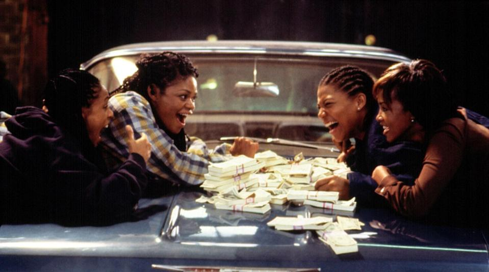 "<p>We are always on board for an all-female heist movie—especially one that involves Queen Latifah, Jada Pinkett Smith, Vivica A. Fox, and Kimberly Elise as four friends in SoCal who decide to rob a bank together. Even 24 years later, we <em>still</em> don't have enough of these types of films. </p> <p><a href=""https://www.amazon.com/gp/video/detail/amzn1.dv.gti.50a9f6f9-948b-1fa4-a986-bc57c6cdf0cb?autoplay=1"" rel=""nofollow noopener"" target=""_blank"" data-ylk=""slk:Available to rent on Amazon Prime"" class=""link rapid-noclick-resp""><em>Available to rent on Amazon Prime</em></a></p>"