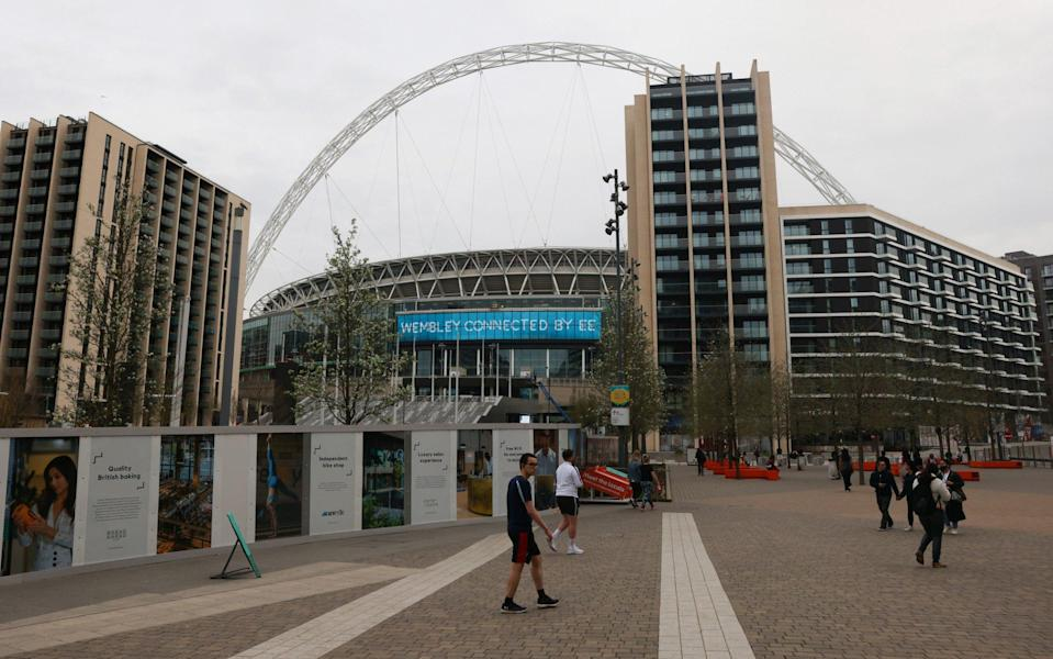 Fans will return to Wembley in restricted numbers for some of the pilot events - Catherine Ivill/Getty Images Europe