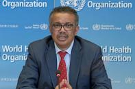 As the WHO prepares to mark 100 days since it was first notified of the outbreak in China, director-general Tedros Adhanom Ghebreyesus (pictured April 6, 2020) hit back at accusations that it had been too close to Beijing (AFP Photo/-)