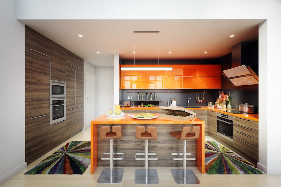 "<h1 class=""title"">Modern Domestic Kitchen Interior</h1> <div class=""caption""> Digitally generated contemporary domestic kitchen interior design.The scene was rendered with photorealistic shaders and lighting in Autodesk® 3ds Max 2016 with V-Ray 3.6 with some post-production added. </div> <cite class=""credit"">Bulgac</cite>"