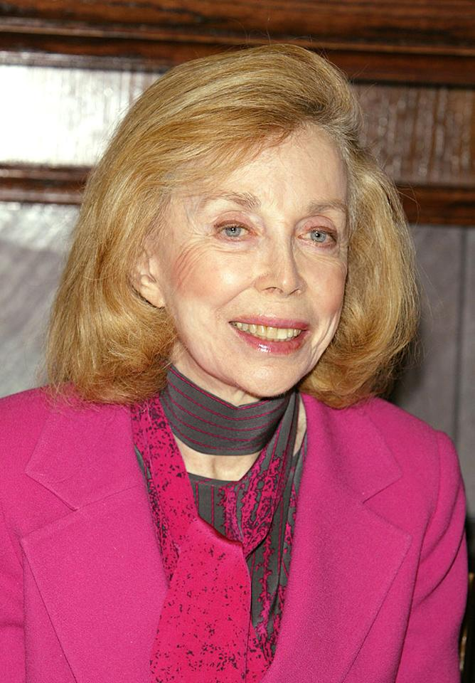 NEW YORK - JANUARY 16:  Dr. Joyce Brothers, who first interviewed the Beatles, during the 40th Anniversary of the Beatles coming to America media conference January 16, 2004 in New York City.