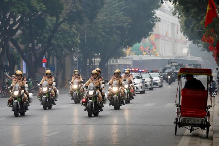 FILE PHOTO: Vietnam tightens security ahead of the 13th national congress of the ruling communist party in Hanoi