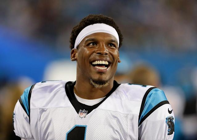 Quarterback Cam Newton on the field at Bank of America Stadium on Aug. 31, 2017, in Charlotte, N.C. (Photo: Getty Images)