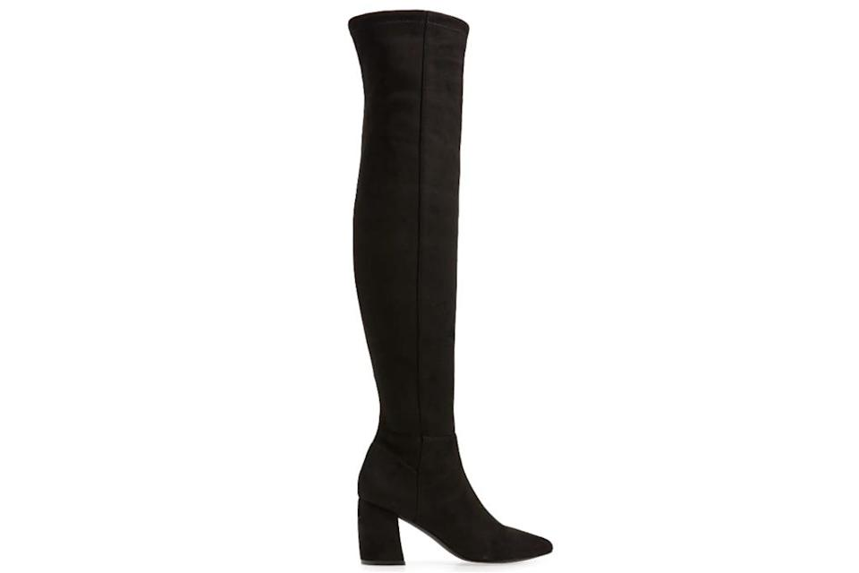 black boots, over the knee, thigh high, steve madden