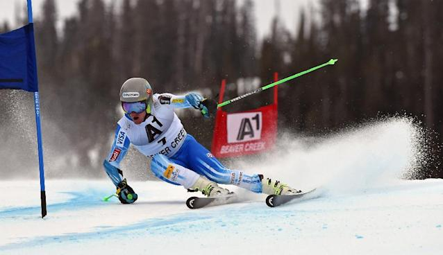 Ted Ligety of the US skis during the 2014 Alpine Ski World Cup Men's Giant Slalom on December 7, 2014 in Beaver Creek, Colorado (AFP Photo/Don Emmert)