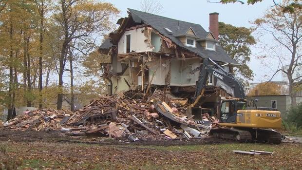 A home on Young Avenue was demolished in 2016. (CBC - image credit)