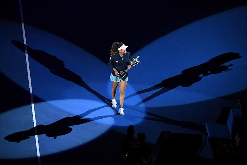 Osaka won her second successive Grand Slam title when she beat Petra Kvitova at the Australian Open in January (AFP Photo/William WEST)