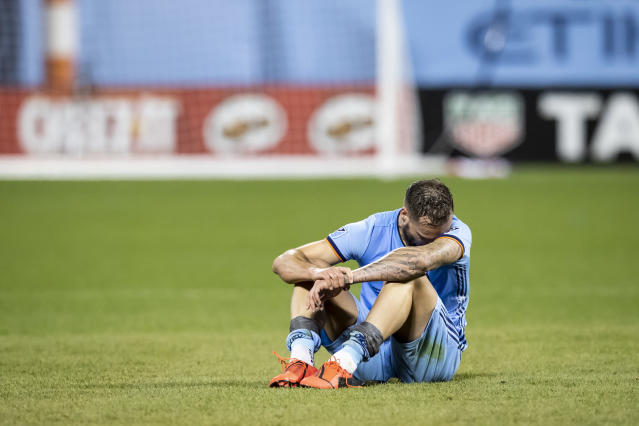 Maxime Chanot and NYCFC never seemed comfortable at their temporary home of Citi Field, and paid the price vs. Toronto FC. (Getty