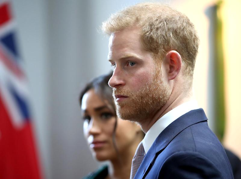 Meghan, Duchess of Sussex (L) and Britain's Prince Harry, Duke of Sussex, attend an event at Canada House, the offices of the High Commision of Canada in the United Kingdom, to mark Commonwealth Day, in central London, on March 11, 2019. - Britain's Queen Elizabeth II has been the Head of the Commonwealth throughout her reign. Organised by the Royal Commonwealth Society, the Service is the largest annual inter-faith gathering in the United Kingdom. (Photo by Chris Jackson / POOL / AFP) (Photo credit should read CHRIS JACKSON/AFP/Getty Images)