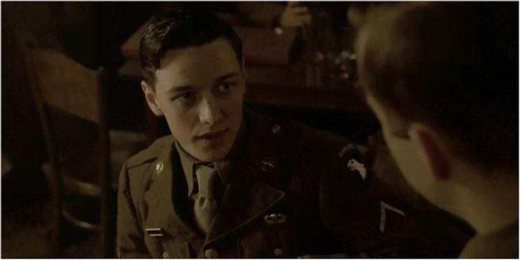 """<p>McAvoy's acting career was already up and running when he played Private James W Miller in a single episode of Band of Brothers (""""Replacements"""") but needless to say it did him no harm (sadly, the same can't be said for his character). McAvoy has since starred in the X-Men movies and the His Dark Materials TV series – of which the third series is imminent – as well as the BBC's recent (and excellent) comedy-drama about lockdown, Together.</p>"""