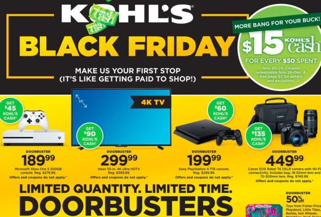 Kohl's has a heck of a lot of deals this Black Friday.