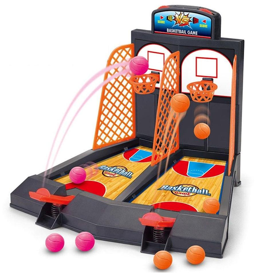 <p>Your twins can play this <span>Basketball Shooting Game</span> ($13) side by side.</p>