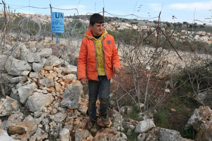 Hussein Chartouni, who claims that Israeli soldiers took the chicken he owned, is pictured at Mays Al-Jabal village