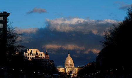 The U.S. Capitol is seen after Special Counsel Robert Mueller handed in his report to Attorney General William Barr on his investigation into Russia's role in the 2016 presidential election and any potential wrongdoing by U.S. President Donald Trump in Washington, U.S., March 22, 2019. REUTERS/Carlos Barria