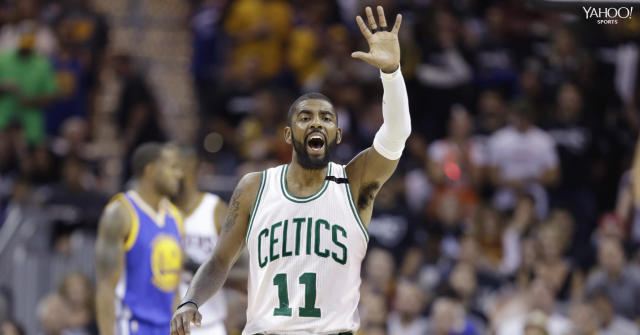 Kyrie Irving will wear No. 11 for the Boston Celtics. (AP/Yahoo Sports)